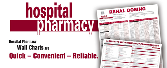 Hospital Pharmacy Wall Charts
